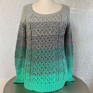 American Eagle Outfitters Scoop Neck Ombré Sweater